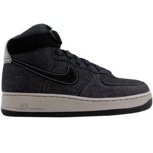 Nike Air Force 1 Hi SE Denim Black/Dark Grey Sz 8